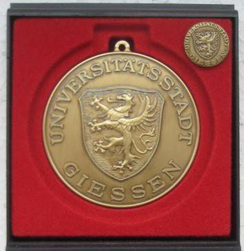 2008 Sportplakette in Bronze der Stadt Giessen