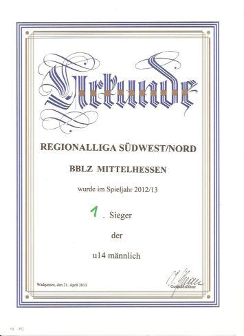 U14 BBLZ Regionalmeister 2013